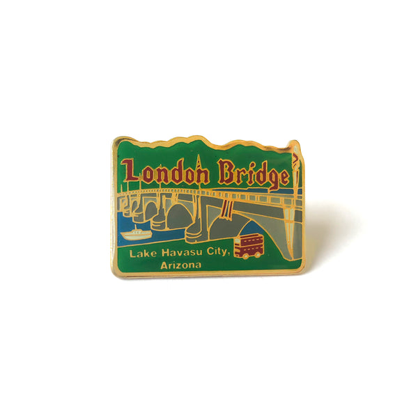 London Bridge Enamel and Brass Pin