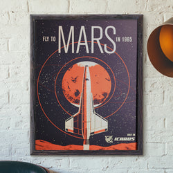 Icarus Mars Travel Poster