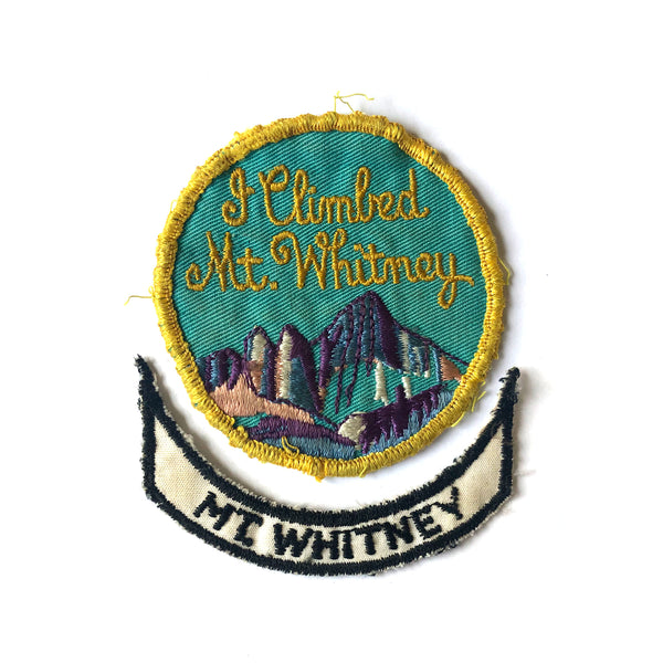 Mount Whitney 2 Part Vintage Patch