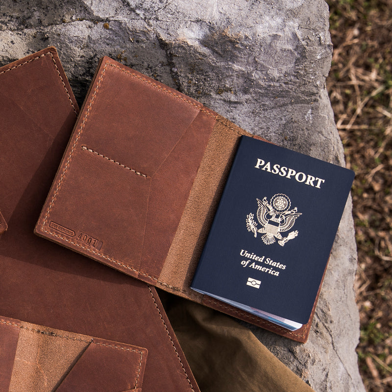 Limited Edition - Blue Leather Passport Wallet