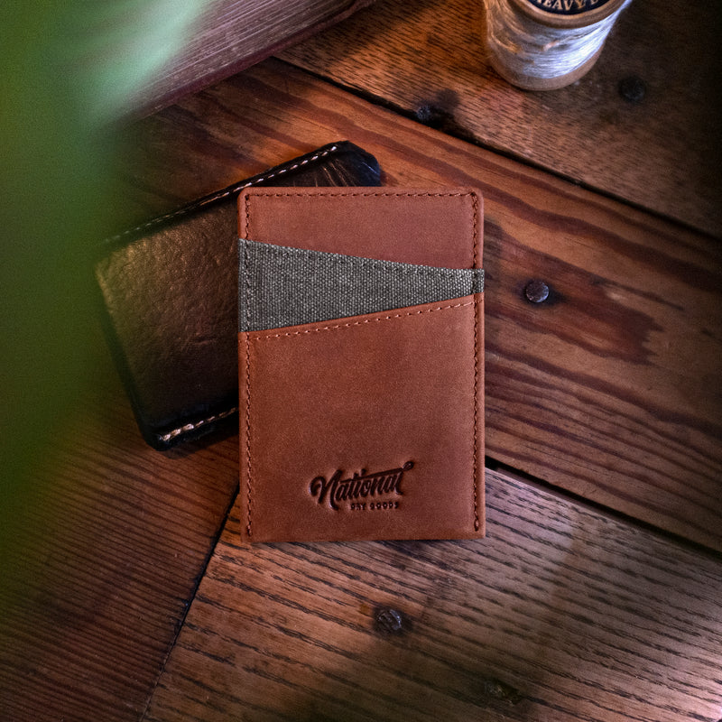 Ultra Slim Crazy Horse Leather Wallet