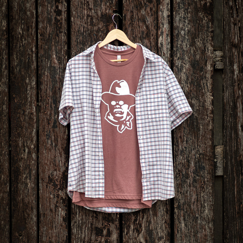 Teddy Roosevelt Tee - Heather Mauve Crew