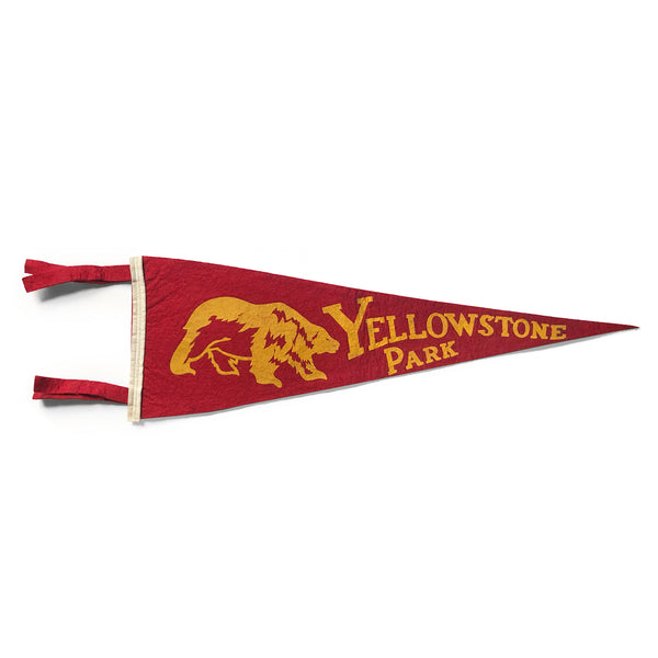 Vintage Yellowstone Pennant