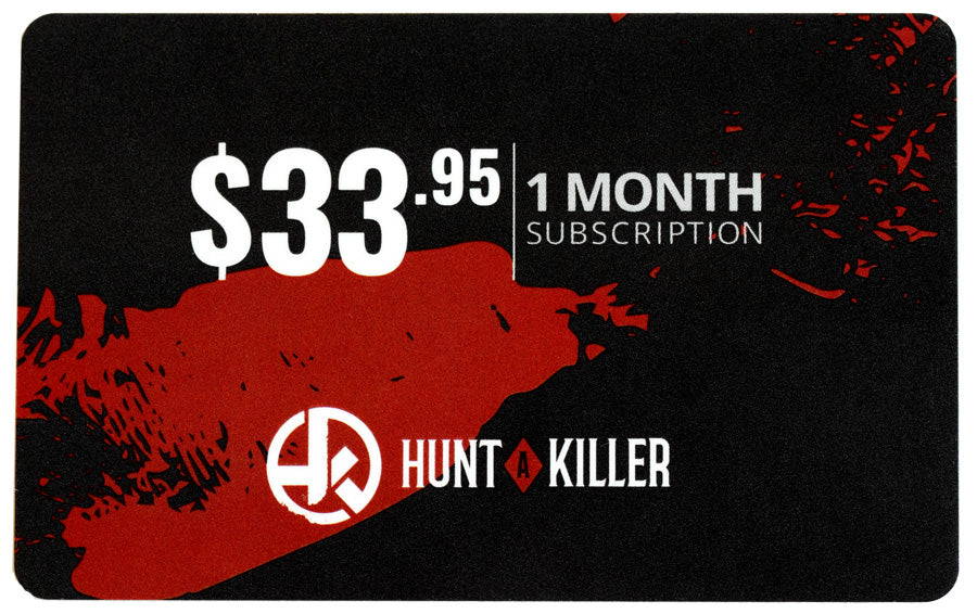 Hunt A Killer 1 Month Gifty Card