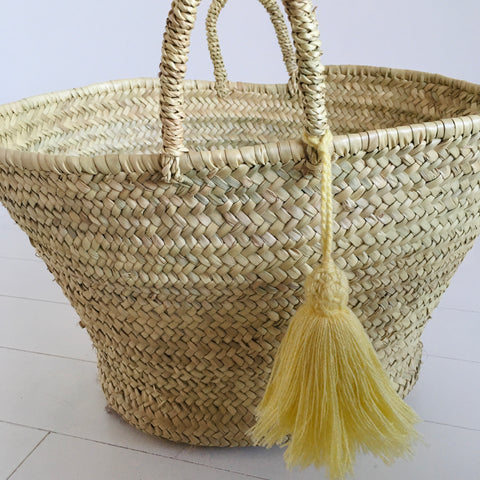 Market Tassel Basket Market Basket - Mashi Moosh
