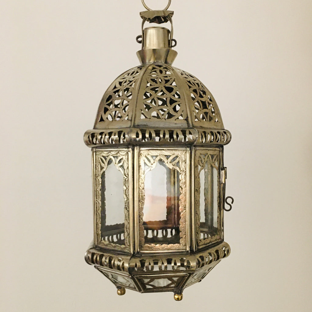 Marrakech Silver Candle Lantern Lantern - Mashi Moosh