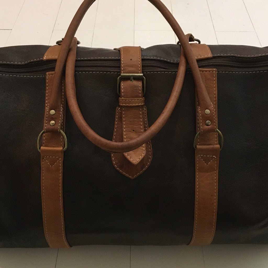 Leather Overnight/Travel Bag - Espresso Bag - Mashi Moosh