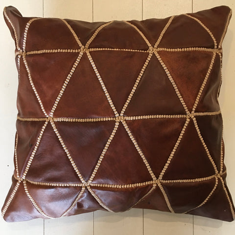 Leather Cushion (Large) Cushion - Mashi Moosh