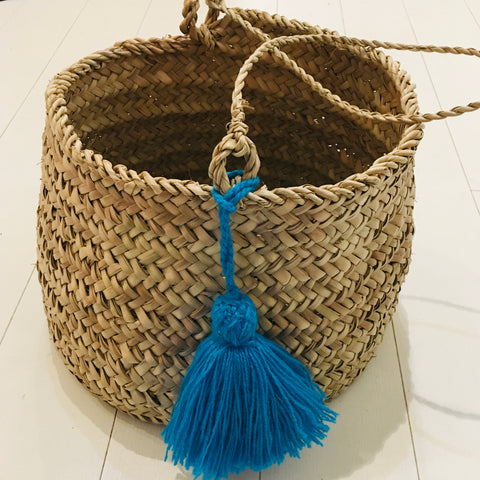 Tassel Hanging Basket Basket - Mashi Moosh