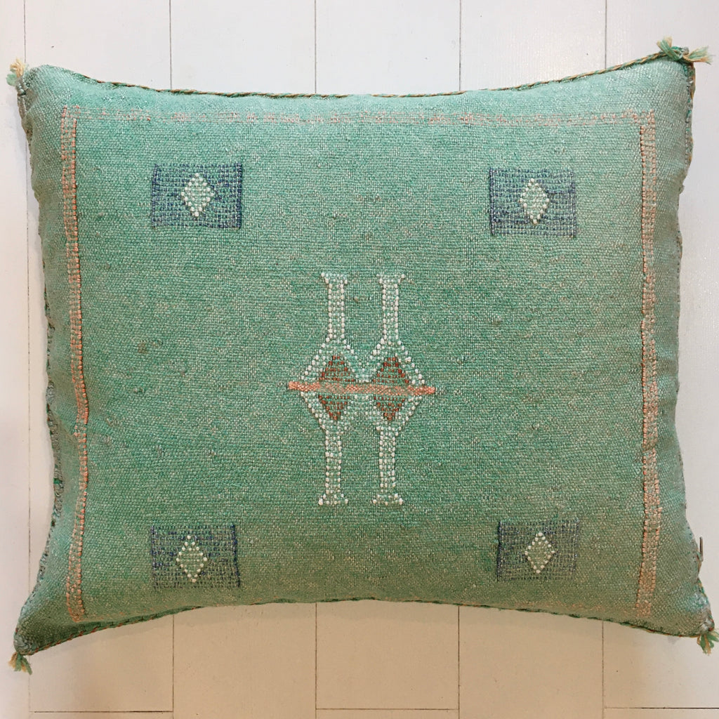 Cactus Silk Cushion (Green Apple)