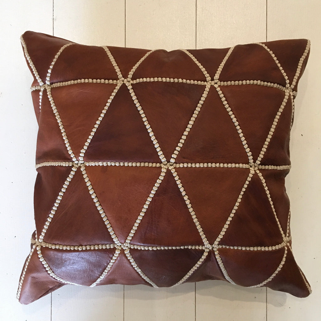 Leather Cushion (Small) Cushion - Mashi Moosh