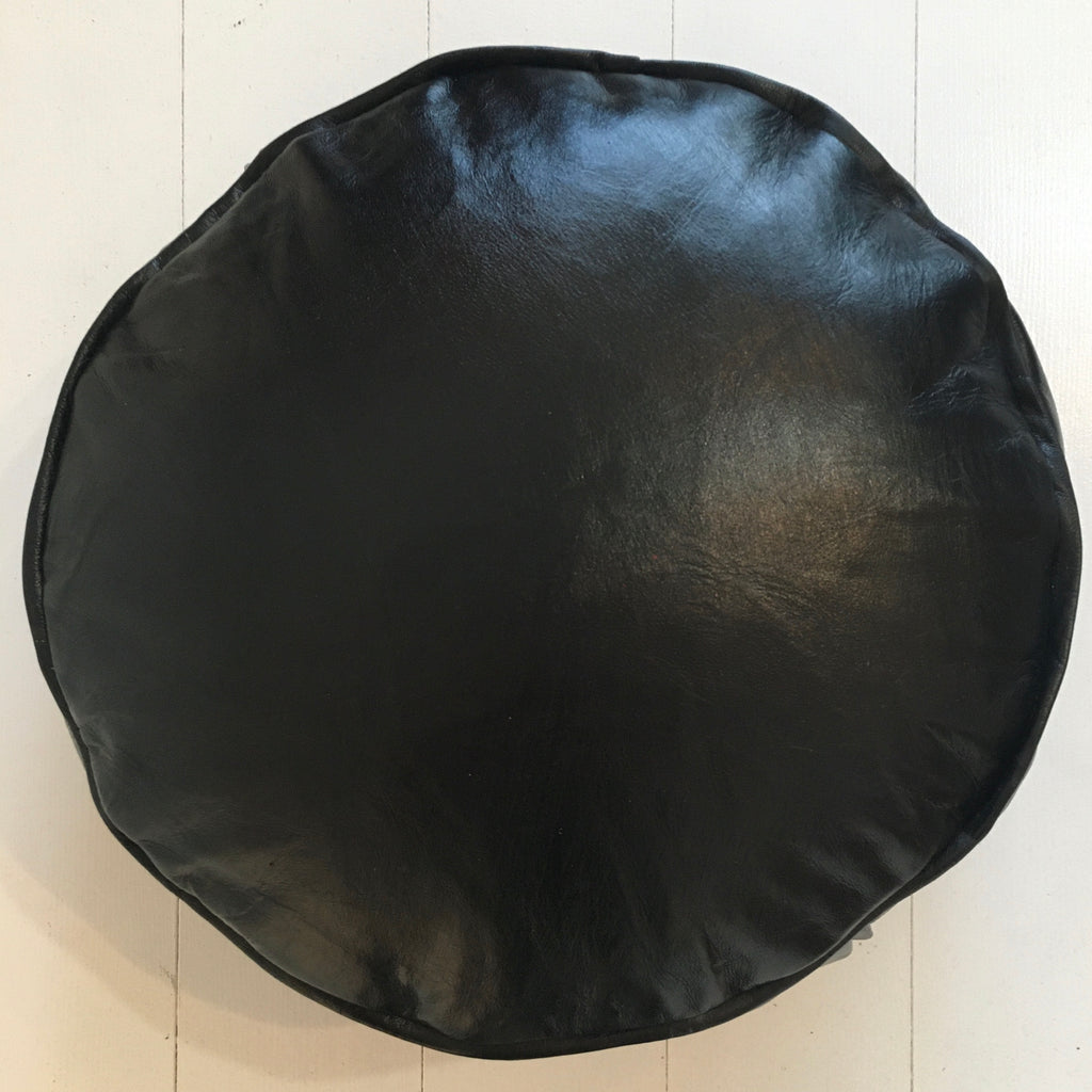 Meditation Pouffe - Black Pouffe - Mashi Moosh