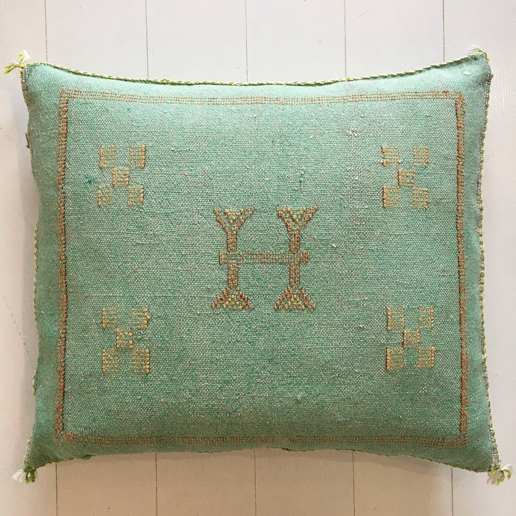 Cactus Silk Cushion (Spearmint) Cushion - Mashi Moosh