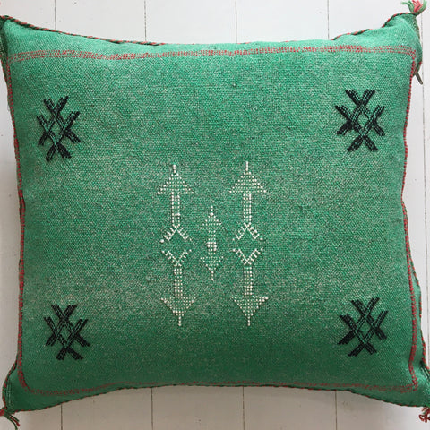 Cactus Silk Cushion (Shamrock)