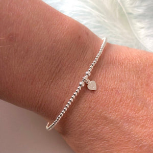 Delicate Personalised Initial Bracelet in Silver