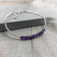 Load image into Gallery viewer, Purple Amethyst Bracelet, February Birthstone