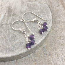 Load image into Gallery viewer, Dainty Amethyst Earrings, February Birthstone