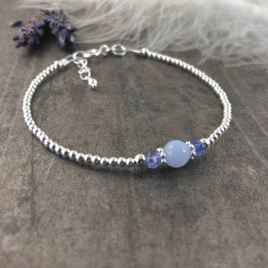 December Birthstone Bracelet, Tanzanite