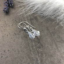 Load image into Gallery viewer, April Birthstone Quartz Earrings, Rock Quartz Jewellery