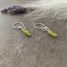 Load image into Gallery viewer, August Birthstone Earrings, Peridot Jewellery