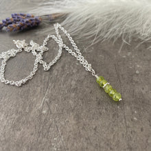 Load image into Gallery viewer, Dainty Peridot necklace, August birthstone