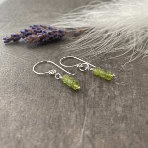 August Birthstone Earrings, Peridot Jewellery