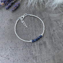 Load image into Gallery viewer, Blue Sapphire Bracelet, September Birthstone