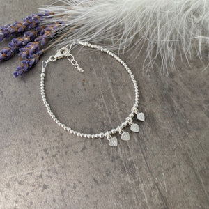 Sterling silver HOPE Bracelet, Personalised Word Bracelet