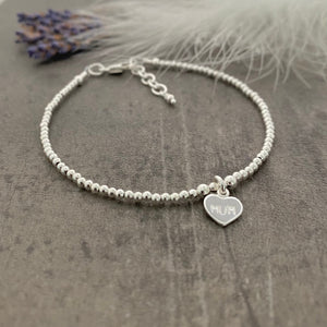 Dainty Mum Bracelet, Gift for Mum on Mothers Day, Monogram Jewellery in Sterling Silver