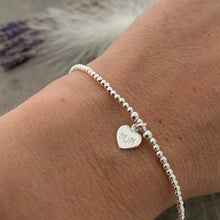 Load image into Gallery viewer, Dainty Mum Bracelet, Gift for Mum on Mothers Day, Monogram Jewellery in Sterling Silver