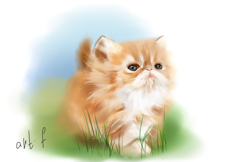 Cat Cartoon Portrait - PetPortraits.com