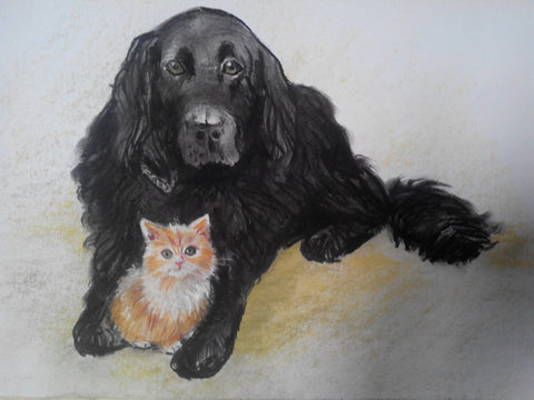 Watercolor Pet Portrait - PetPortraits.com