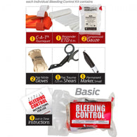 PUBLIC ACCESS INDIVIDUAL BLEEDING CONTROL KIT - VACUUM SEALED - JIC SURVIVAL