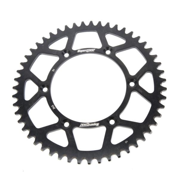 Supersprox-SPROCKET 51 Rear Yamaha Black SUPERSPROX RAL-245-51-BLK