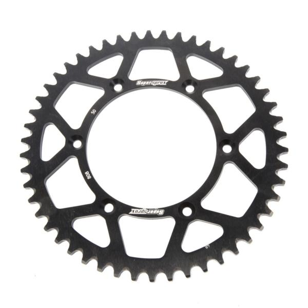 Supersprox-SPROCKET 50 Rear Suzuki Black SUPERSPROX RAL-808-50-BLK