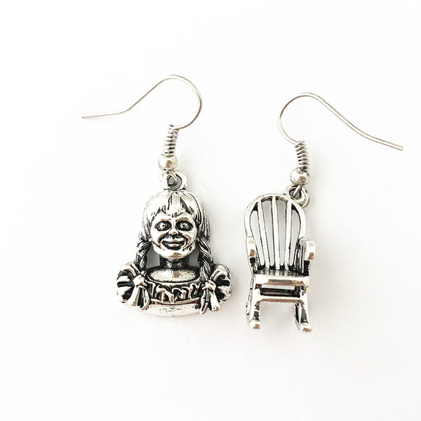 Horror Film Inspired - Annabelle, Conjuring, Saw, Captain Spaulding, Hellraiser, Leatherface, Sam Doll Trick 'r Treat  - Horror Earrings