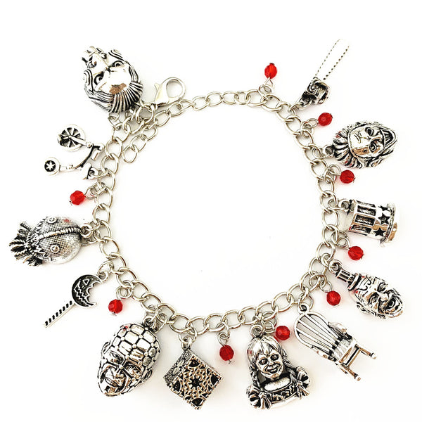 Horror Film Inspired - Annabelle, Conjuring, Saw, Captain Spaulding, Hellraiser, Leatherface, Sam Doll Trick 'r Treat  - Horror Bracelet