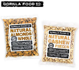 Raw Whole Almonds + Cashew Pieces Unsalted Combo - 2 x 1Lb - Gorilla Food Co. USA