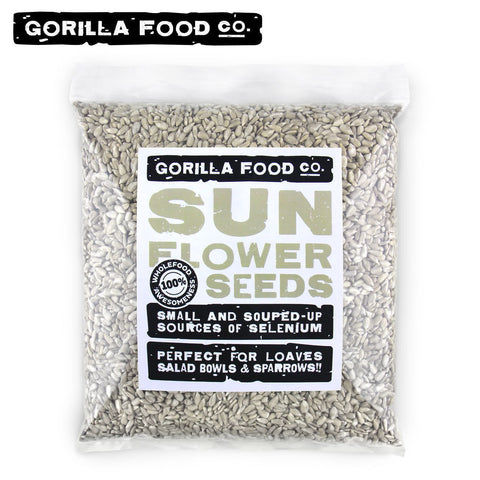 Gorilla Food Co. Raw Sunflower Seeds Unsalted No Shell - 1lb/16oz - Gorilla Food Co. USA