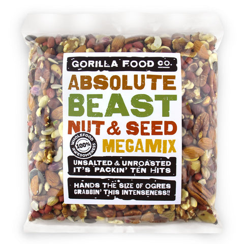 """Absolute Beast"" Mixed Nut & Seed Megamix - Gorilla Food Co. USA"