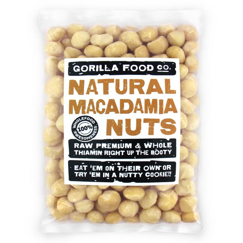 Free Ship! Premium Whole (95%) Raw Macadamia Nuts-Fresh CROP! - Gorilla Food Co. USA