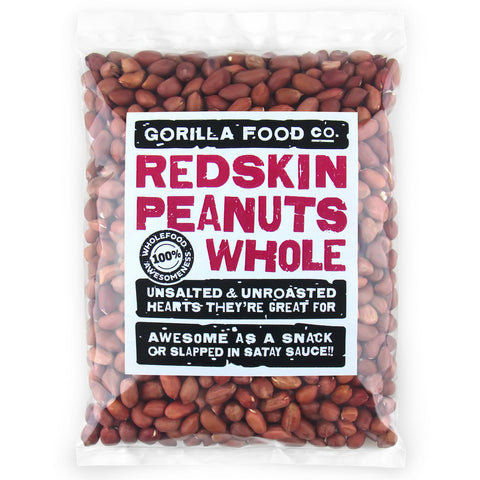 Redskin Peanuts Whole Raw Unsalted - Gorilla Food Co. USA