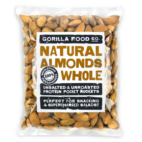 California Raw Almonds Whole Unsalted - Gorilla Food Co. USA