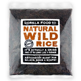 Premium Black Wild Rice - Gorilla Food Co. USA