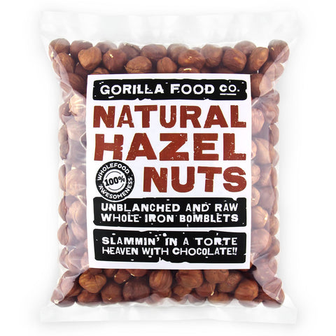Hazelnuts(Filberts) Whole Raw Unblanched - Gorilla Food Co. USA