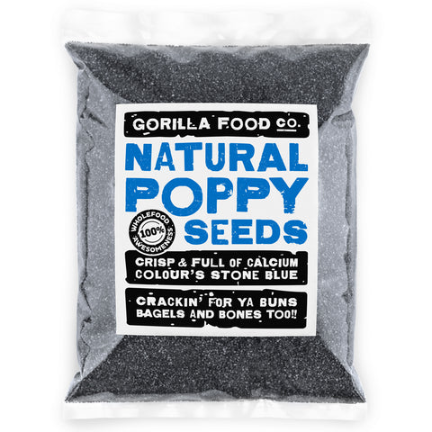 A1 Grade Unwashed Poppy Seeds Blue - Fast, Free Ship! - Gorilla Food Co. USA