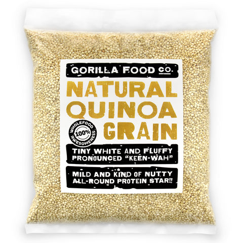 Gorilla Food Co. White Quinoa Whole Grain Raw Best Quality - 1lb/16oz - Gorilla Food Co. USA
