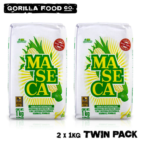 2 Packs Maseca Corn Flour - Gluten Free, For Tortillas & Wraps - 2 x 2.2lb - Gorilla Food Co. USA