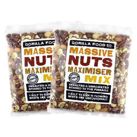 "The ""Maximizer"" Premium Mixed Nuts Raw Unsalted - Gorilla Food Co. USA"