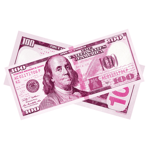 $100 New Series Pink Money Bills - PropMoney.com